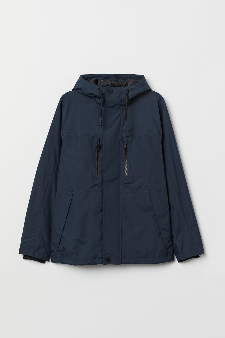 Padded nylon jacket - Dark blue - Men | H&M