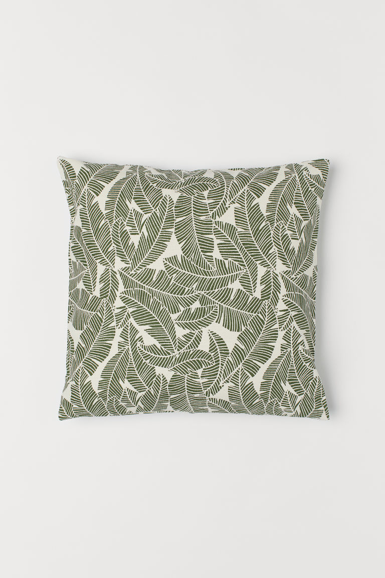 Canvas cushion cover - Moss green - Home All | H&M CN