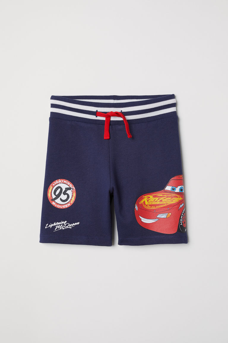 Sweatshirt shorts - Dark blue/Cars - Kids | H&M