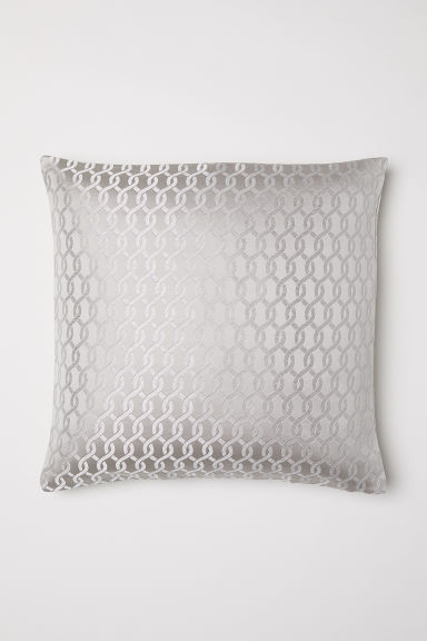 Jacquard-weave cushion cover - Light beige - Home All | H&M CN