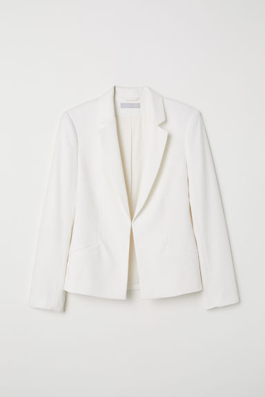Textured-weave jacket - Cream - Ladies | H&M
