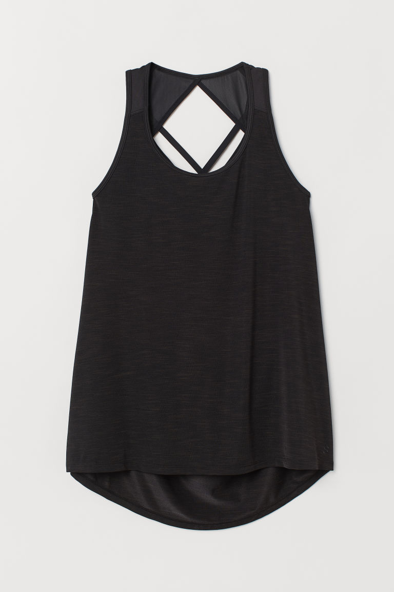 H&M+ Top sportivo - Nero mélange - DONNA | H&M CH