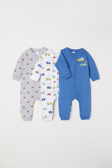 3-pack cotton pyjamas - Blue/Vehicles - Kids | H&M