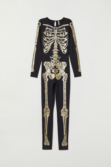 Skeleton costume - Black/Gold-coloured -  | H&M