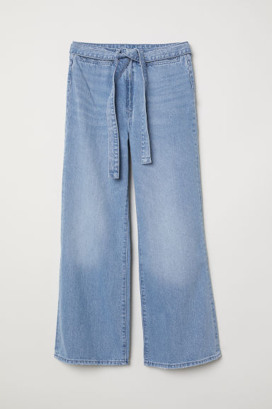 Wide High Waist Jeans - Light denim blue - Ladies | H&M US