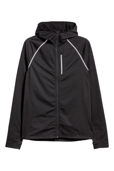 Winter running jacket - Black -  | H&M