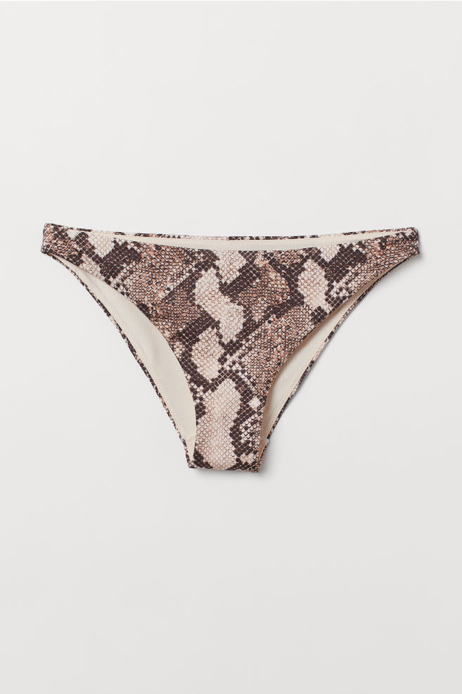 a1f0f59e6fda65 ... Cheeky Bikini Bottoms - Beige/snakeskin-patterned - Ladies | H&M ...