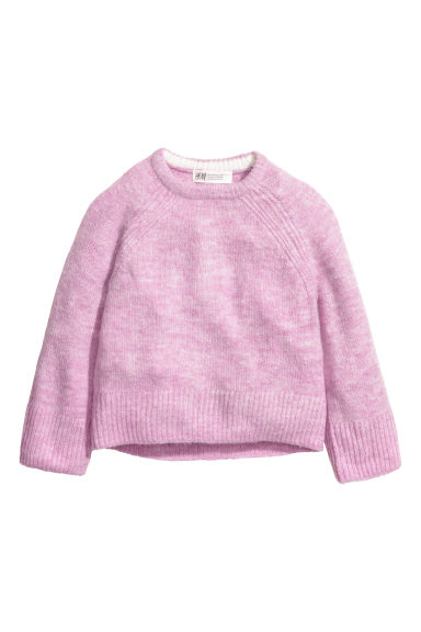 Knitted jumper - Light purple marl - Kids | H&M IE