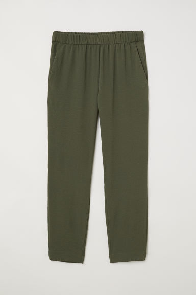 Crêped Pants - Khaki green - Ladies | H&M CA