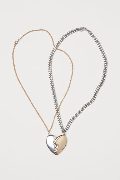 2-pack necklaces - Gold-coloured/Silver-coloured - Ladies | H&M