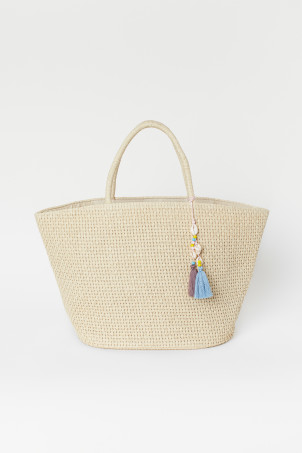 Bolso shopper de paja
