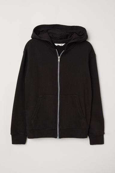 Hooded Jacket - Black - Kids | H&M US