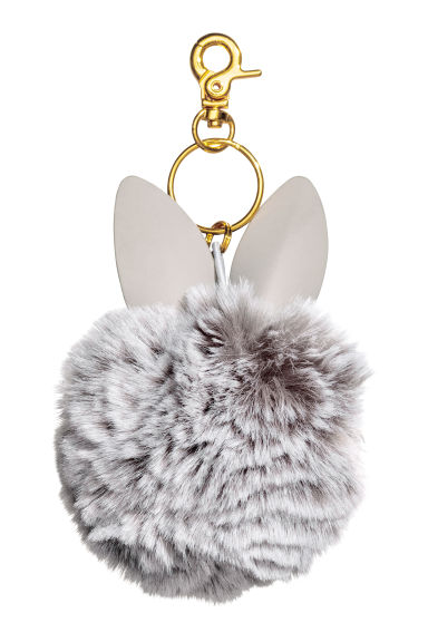Keyring - Light grey -  | H&M