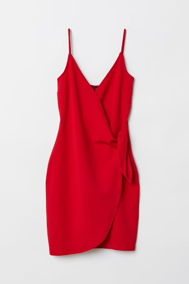 V-neck Dress - Red -  | H&M US