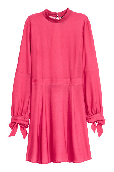 Dress with a stand-up collar - Cerise - Ladies | H&M CN