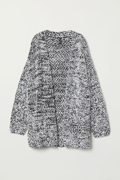 Long Cardigan - Black/white - Ladies | H&M US