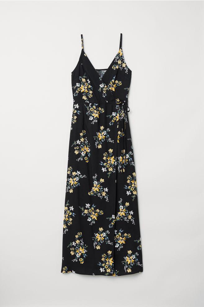 8a2b1c060a4f Maxi dress - Black/Floral -   H&M ...