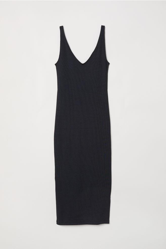 cf823e447a04bcb Платье-футляр - Черный - Женщины | H&M RU 1