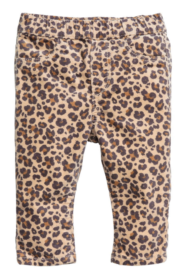 Denim leggings - Leopard print - Kids | H&M CN