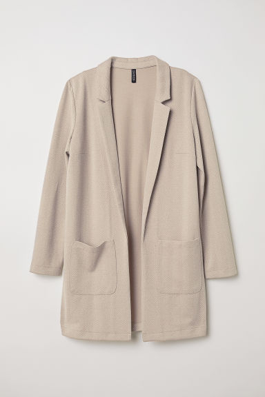 Giacca lunga - Beige/spigato -  | H&M IT