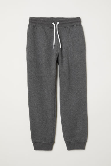 Cotton-blend joggers - Dark grey marl - Kids | H&M CN