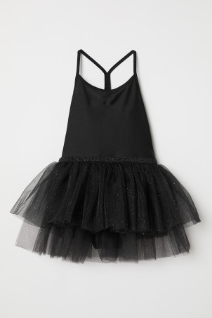 Leotard with a tulle skirt