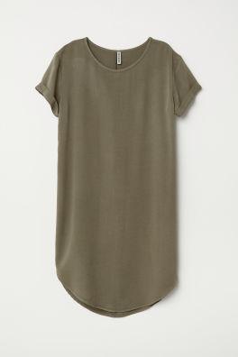 Vestido camiseta de viscosa 65351fa3dfaf9