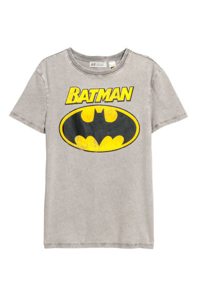 Printed T-shirt - Grey/Batman - Kids | H&M