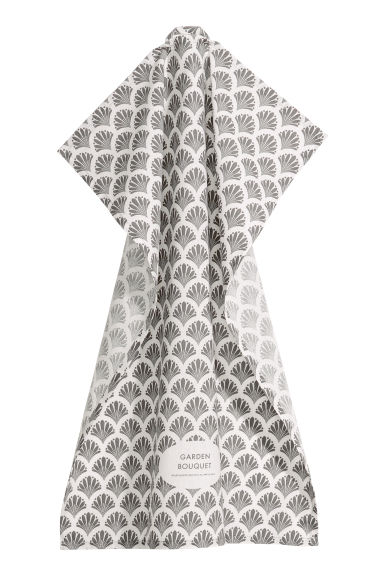 Tea towel - Grey/Patterned - Home All | H&M CN