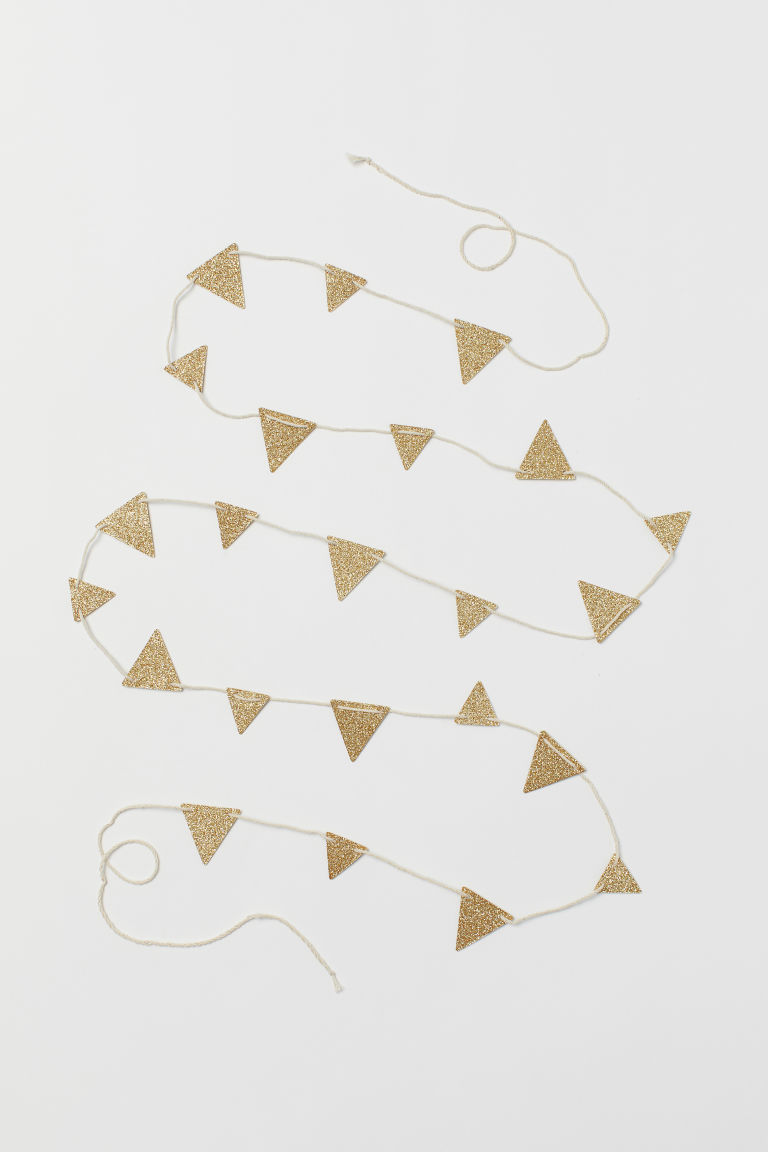 Cord with Glittery Pennants - Gold-colored -  | H&M US