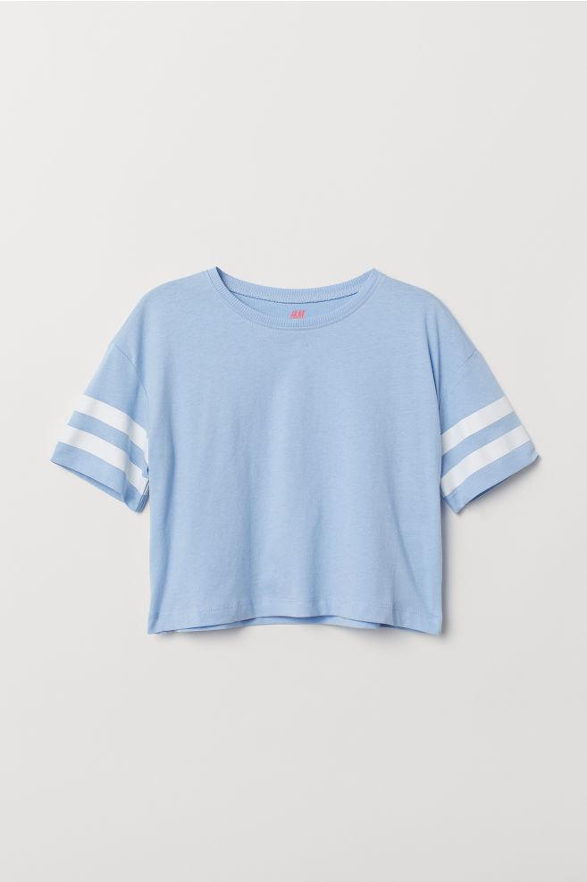 91a8c1bb7bc1ab ... Short T-shirt - Light blue - Kids