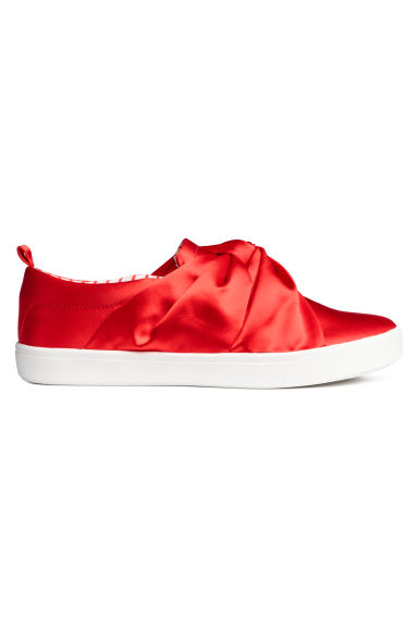 Knot-detail trainers - Bright red - Kids | H&M CN
