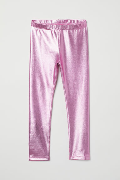 Leggings - Pink metallic - Kids | H&M