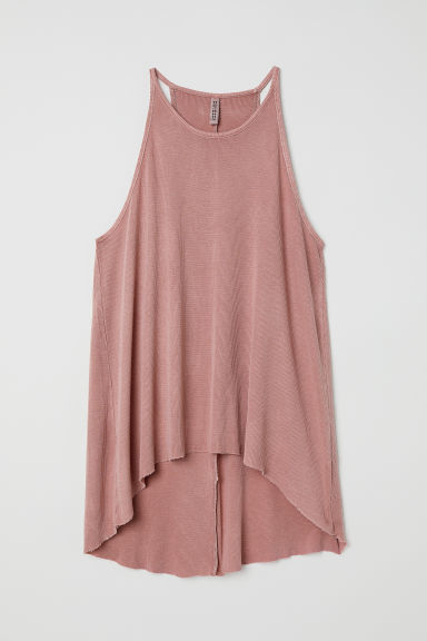 Ribbed jersey sleeveless top - Vintage pink -  | H&M CN