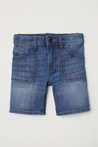 Super Soft denim shorts - Dark denim blue - Kids | H&M CN