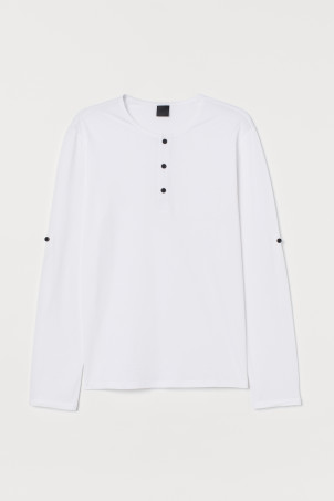 Cotton Jersey Henley ShirtModel