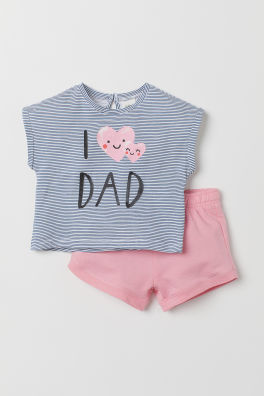 44a5018aed6 Cotton T-shirt and shorts