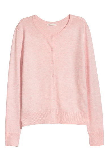 Fine-knit Cardigan - Pink melange - Ladies | H&M US