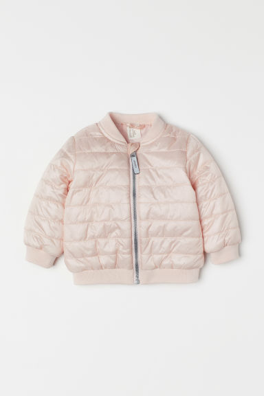 Padded bomber jacket - Powder pink - Kids | H&M CN
