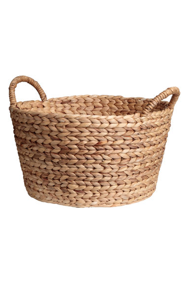 Round water hyacinth basket - Natural -  | H&M CN