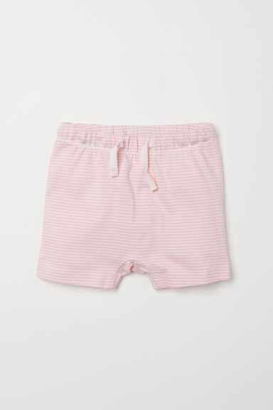 Jersey shorts - Light pink/Striped - Kids | H&M CN