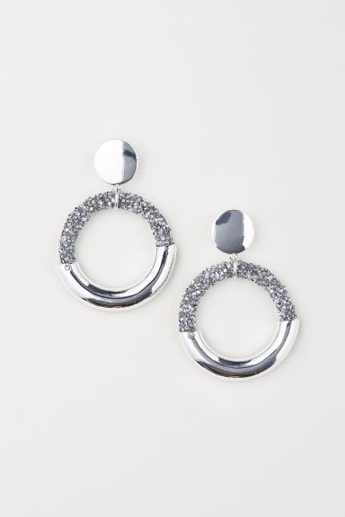 Hoop earrings - Silver-coloured - Ladies | H&M