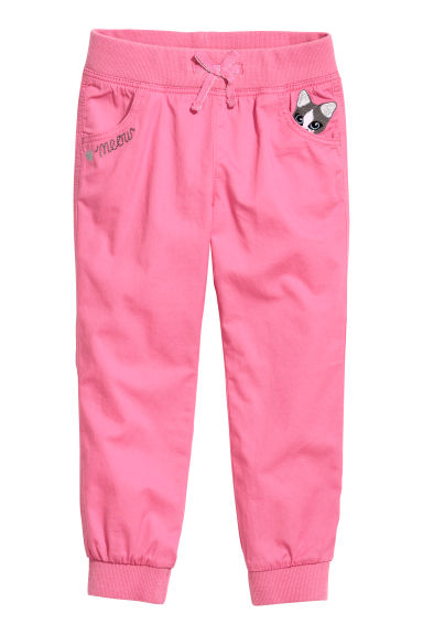 Pull-on trousers - Pink/Cat -  | H&M CN