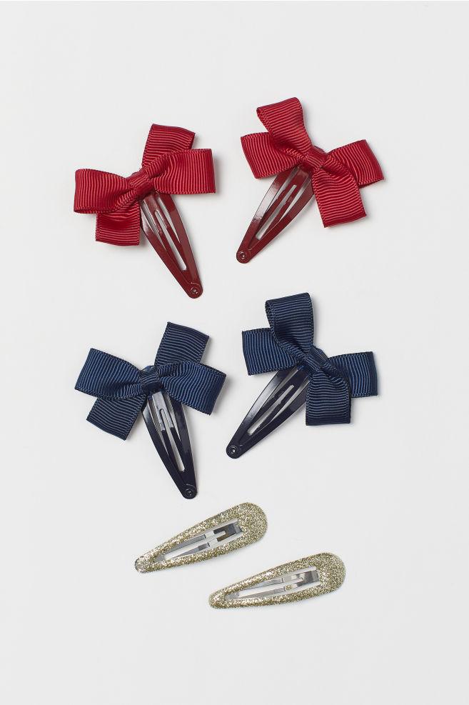 6-pack hårspänne - Röd/Mörkblå - BARN | H&M SE 1