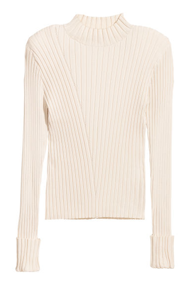 Top côtelé - Blanc -  | H&M BE