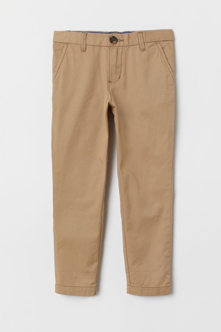 Cotton chinos - Beige - Kids | H&M IN