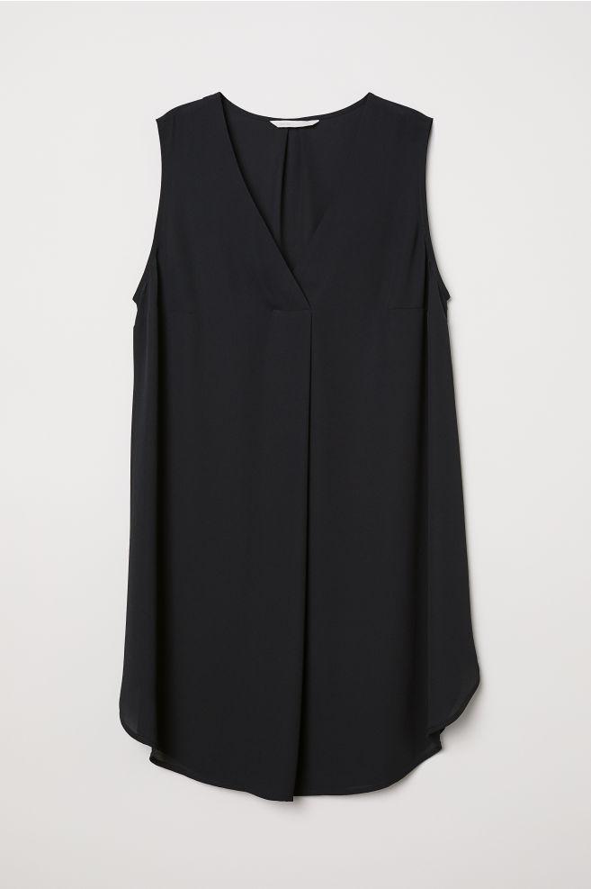 cbf9e987a88 MAMA Sleeveless tunic - Black - Ladies | H&M ...