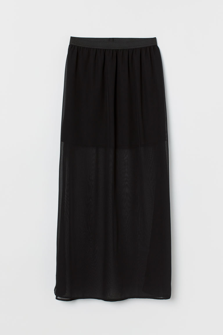 Ankle-length Skirt - Black -  | H&M US
