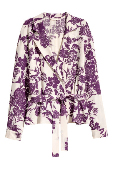 Crêpe blouse - Cream/Plum - Ladies | H&M IE