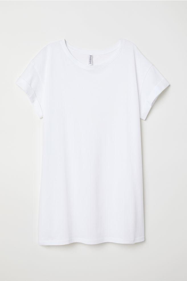 c04860b7c1ea ... Long T-shirt - White - Ladies